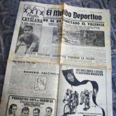 Coleccionismo deportivo: EL MUNDO DEPORTIVO- NO SE HA INMUTADO EL VALENCIA+ XXIX VUELTA CICLISTA CATALUÑA, 1949.. Lote 222323127