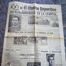 Coleccionismo deportivo: EL MUNDO DEPORTIVO- SORPRESA EN LA CUANTIA+ XXIX VUELTA CICLISTA CATALUÑA, 1949.. Lote 222323540