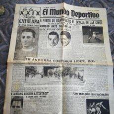Coleccionismo deportivo: EL MUNDO DEPORTIVO- A PUNTO DE REAPARECER EL SEVILLA EN CORTS+ XXIX VUELTA CICLISTA CATALUÑA, 1949.. Lote 222324061