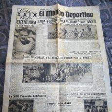 Coleccionismo deportivo: EL MUNDO DEPORTIVO- LÉRIDA Y GERONA TIENEN VISITANTES DIFÍCILES+XXIX VUELTA CICLISTA CATALUÑA, 1949.. Lote 222324593