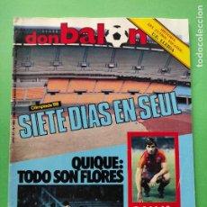 Coleccionismo deportivo: REVISTA DON BALON Nº 483 1985 FASCICULO HISTORIA UE LLEDIA - JJOO SEUL 88 - PASSARELLA - BASKET. Lote 222326808