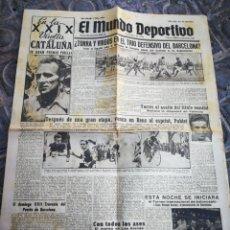 Coleccionismo deportivo: EL MUNDO DEPORTIVO-TORRA Y VIRGOS EN EL TRIO OFENSIVO BARCELONA?+XXIX VUELTA CICLISTA CATALUÑA,1949.. Lote 222327173