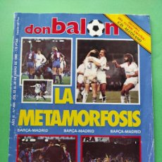 Coleccionismo deportivo: REVISTA DON BALON Nº 484 1985 FASCICULO HISTORIA CD ALCOYANO - QUIQUE SETIEN RACING - MICHEL - SEVE. Lote 222327245