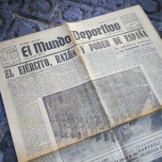 Coleccionismo deportivo: EL MUNDO DEPORTIVO- EL EJÉRCITO, RAZÓN Y PODER DE ESPAÑA, 8 DICIEMBRE 1941.. Lote 222328353