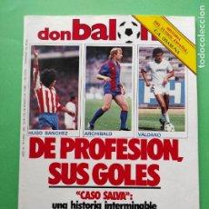 Coleccionismo deportivo: REVISTA DON BALON Nº 492 1985 FASCICULO HISTORIA CA OSASUNA POSTER ARCHIBALD BARÇA - CORBALAN. Lote 222335431
