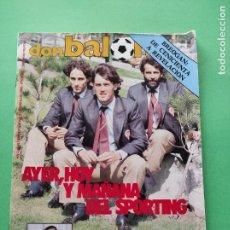 Coleccionismo deportivo: REVISTA DON BALON Nº 496 1985 ESPECIAL SPORTING DE GIJON - URRUTI - BASKET BREOGAN LUGO. Lote 222336543
