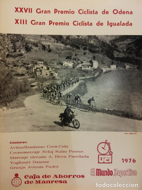XXVII GRAN PREMIO CICLISTA DE ODENA. XIII GRAN PREMIO CICLISTA DE IGUALADA. EL MUNDO DEPORTIVO 1976 (Coleccionismo Deportivo - Revistas y Periódicos - Mundo Deportivo)
