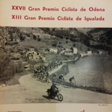 Coleccionismo deportivo: XXVII GRAN PREMIO CICLISTA DE ODENA. XIII GRAN PREMIO CICLISTA DE IGUALADA. EL MUNDO DEPORTIVO 1976. Lote 222358613