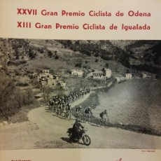 Coleccionismo deportivo: XXVII GRAN PREMIO CICLISTA DE ODENA. XIII GRAN PREMIO CICLISTA DE IGUALADA. EL MUNDO DEPORTIVO 1976. Lote 222358630