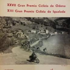 Coleccionismo deportivo: XXVII GRAN PREMIO CICLISTA DE ODENA. XIII GRAN PREMIO CICLISTA DE IGUALADA. EL MUNDO DEPORTIVO 1976. Lote 222358665
