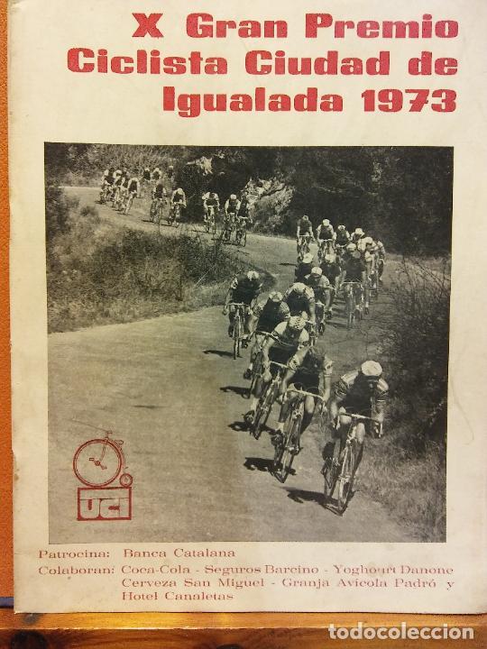 X GRAN PREMIO CICLISTA CIUDAD DE IGUALADA. 1973. EL MUNDO DEPORTIVO (Coleccionismo Deportivo - Revistas y Periódicos - Mundo Deportivo)