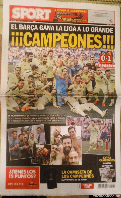 DIARIO SPORT BARCELONA CAMPEÓN LIGA 2015 (Coleccionismo Deportivo - Revistas y Periódicos - Sport)