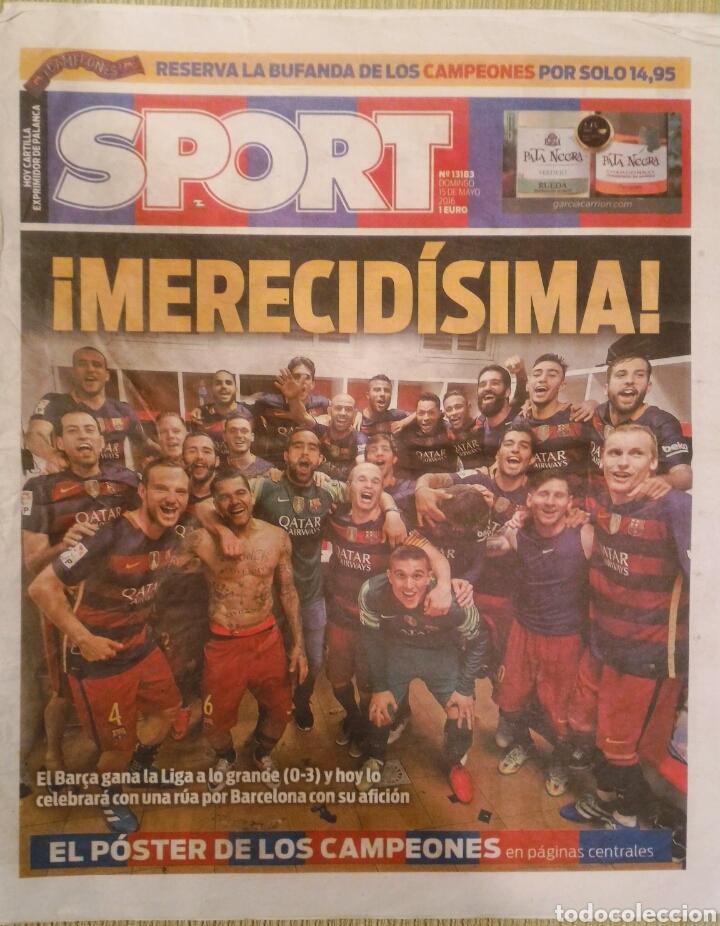 DIARIO SPORT BARCELONA CAMPEÓN LIGA 2015/16 (Coleccionismo Deportivo - Revistas y Periódicos - Sport)