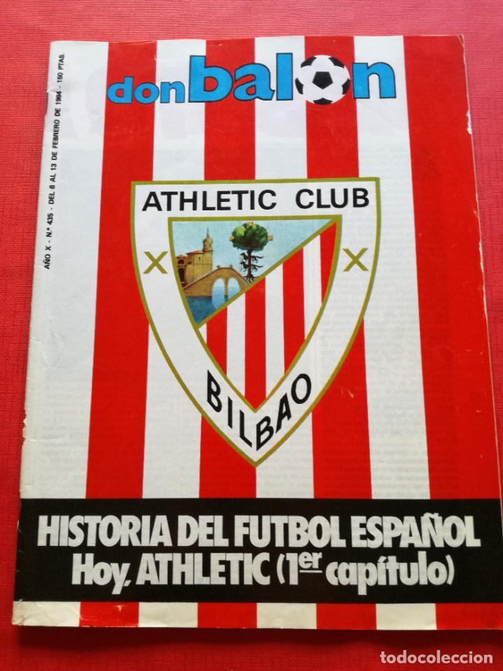 Coleccionismo deportivo: REVISTA DON BALON Nº 435 1984 POSTER MARADONA BARÇA 83/84 - FASCICULO 1 HISTORIA ATHLETIC CLUB - Foto 2 - 222409181