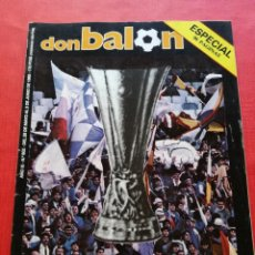 Collectionnisme sportif: DON BALON 502 - ESPECIAL REAL MADRID CAMPEON COPA UEFA 1984/1985 - POSTER EUROMADRID 84/85 - EXTRA. Lote 222409763