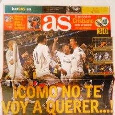 Coleccionismo deportivo: DIARIO AS REAL MADRID ELIMINA WOLFSBURGO REMONTADA. Lote 222477735
