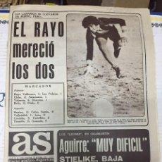 Coleccionismo deportivo: AS (25-9-1977) RAYO LAS PALMAS ROJO I REAL MADRID ATHLETIC BILBAO LEGRA BOXEO. Lote 222477847