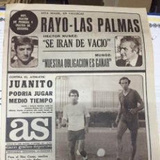 Coleccionismo deportivo: AS (24-9-1977) RAYO LAS PALMAS JUANTIO REAL MADRID SAN JOSE CARNEVALI JORGE RAMON. Lote 222477983