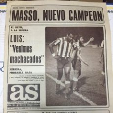 Coleccionismo deportivo: AS (17-9-1977) MASSO CAMPEON EUROPEO BOXEO DINAMO BUCAREST ATLETICO MADRID SANTILLANA ORTIGOSA. Lote 222479267