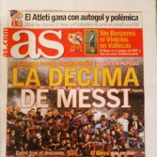 Coleccionismo deportivo: DIARIO AS BARCELONA CAMPEÓN LIGA 2019. Lote 222480633