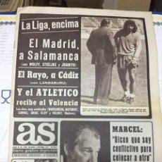 Coleccionismo deportivo: AS(2-9-1977)SALAMANCA REAL MADRID RAYO ATLETICO MADRID VALENCIA CORTES CASTILLA MARCEL DOMINGO REZZA. Lote 222481028