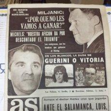 Coleccionismo deportivo: AS (30-1-1977) GUERINI VITORIA REAL MADRID BARCELONA ROBERTO MARTINEZ REAL SOCIEDAD PIRRI. Lote 222481175