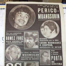 Coleccionismo deportivo: AS (19-1-1977) PERICO MUANGSURIN GOMEZ FOUZ BOXEO MANOLO CELTA VIGO VALENCIA MUNDIAL TONY ORTIZ. Lote 222481311