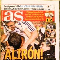 Coleccionismo deportivo: DIARIO AS REAL MADRID CAMPEÓN DE LIGA 2008. Lote 222481953