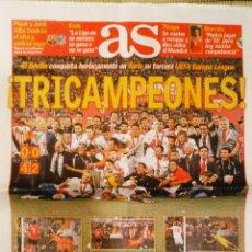 Coleccionismo deportivo: DIARIO AS SEVILLA CAMPEÓN EUROPA LEAGUE POR TERCERA VEZ. Lote 222484968