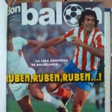 Coleccionismo deportivo: 17 REVISTAS DON BALON ENCUADERNADO 1977-1978. Lote 222493615