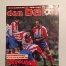 Colecionismo desportivo: REVISTA DON BALON. ABRIL 1996. Nº 1071. AÑO XXII. ATLETICO DE MADRID. TDKC80. Lote 222495130