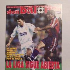 Colecionismo desportivo: REVISTA DON BALON Nº 1024 - MAYO JUNIO 1995 - AÑO XXI. LA LIGA SIGUE ABIERTA. TDKC80. Lote 222503180