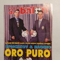 Collectionnisme sportif: REVISTA DON BALON Nº 1001 - 1994 - STOICHKOV & BAGGIO ORO PURO. DICIEMBRE 1995. AÑO XX. TDKC80. Lote 222503250