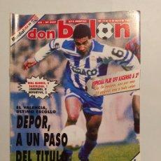 Colecionismo desportivo: REVISTA DON BALON. Nº 967. MAYO 1994. DEPOR A UN PASO DEL TITULO. TDKC80. Lote 222505295