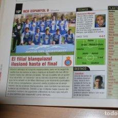 Colecionismo desportivo: RECORTE DE DON BALON 2002-03 FOTO Y LISTA DE JUGADORES DEL RCD ESPANYOL B. Lote 222517765