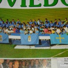 Coleccionismo deportivo: RECORTE DON BALON TEMPORADA 1990-91.PLANTILLA DEL REAL OVIEDO. Lote 222569498