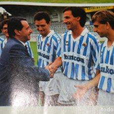 Coleccionismo deportivo: RECORTE DON BALON TEMPORADA 1990-91.FOTO PRESENTACIÓN DE LA R SOCIEDAD. Lote 222569600