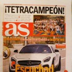 Coleccionismo deportivo: DIARIO AS PERIÓDICO REAL MADRID CAMPEÓN LIGA BALONCESTO 2015 SU 32. Lote 222624233
