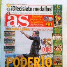 Coleccionismo deportivo: DIARIO AS FINAL JUEGOS OLÍMPICOS DE RÍO ESPAÑA 17 MEDALLAS. Lote 222624662