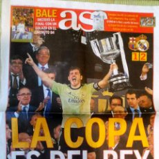 Coleccionismo deportivo: PERIÓDICO DIARIO AS REAL MADRID CAMPEÓN COPA DEL REY 2014 AL BARCELONA. Lote 222628316
