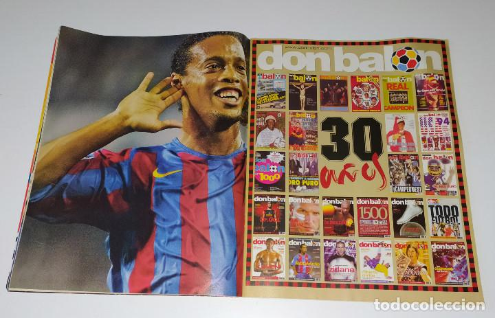 Coleccionismo deportivo: REVISTA DON BALÓN 30 AÑOS - NUMERO ESPECIAL - ZIDANE - FERNANDO TORRES - RONALDINHO - Foto 5 - 222657771