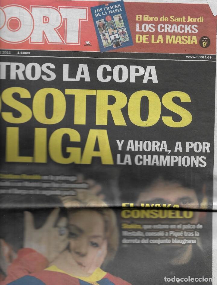 BARÇA: FINAL DE COPA DEL REY DE 2011. DIARIO SPORT (Coleccionismo Deportivo - Revistas y Periódicos - Sport)