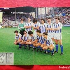 Coleccionismo deportivo: REVISTA MARCA SUPERCOLOR Nº 13 1986 - POSTER REAL SOCIEDAD 86 87 - PLATINI - CEDRUN - LOPEZ UFARTE. Lote 222753292