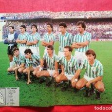 Coleccionismo deportivo: REVISTA MARCA SUPERCOLOR Nº 17 - POSTER REAL BETIS 86 87 -PORTEROS 1986/1987-PABLO LASO- BALLESTEROS. Lote 222756968