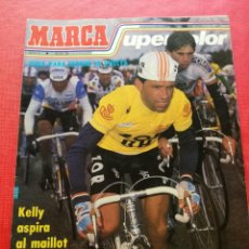 Coleccionismo deportivo: REVISTA MARCA SUPERCOLOR Nº 39 - GUIA VUELTA CICLISTA A ESPAÑA 87 - FICHAS ALBUM LIGA 1986/1987. Lote 222778527