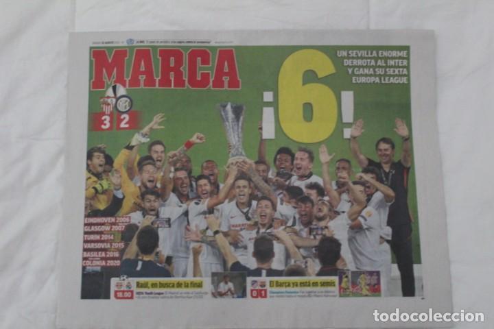 DIARIO MARCA 22/08/2020. SEVILLA F.C CAMPEÓN DE LA SEXTA EUROPA LEAGUE FÚTBOL. (Coleccionismo Deportivo - Revistas y Periódicos - Marca)