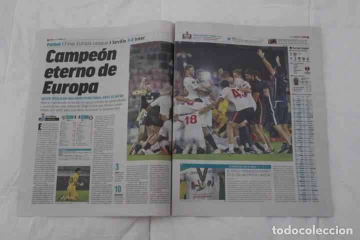 Coleccionismo deportivo: DIARIO MARCA 22/08/2020. SEVILLA F.C CAMPEÓN DE LA SEXTA EUROPA LEAGUE FÚTBOL. - Foto 2 - 222800615