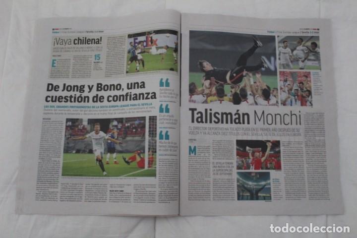 Coleccionismo deportivo: DIARIO MARCA 22/08/2020. SEVILLA F.C CAMPEÓN DE LA SEXTA EUROPA LEAGUE FÚTBOL. - Foto 4 - 222800615