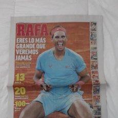 Coleccionismo deportivo: DIARIO MARCA 12/10/2020. RAFA NADAL GANA SU TRECE ROLAND GARROS TENIS (2020).. Lote 222802562