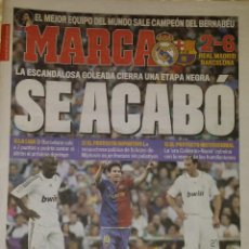 Coleccionismo deportivo: REAL MADRID 2 FC BARCELONA 6 - SE ACABÓ. Lote 222845070